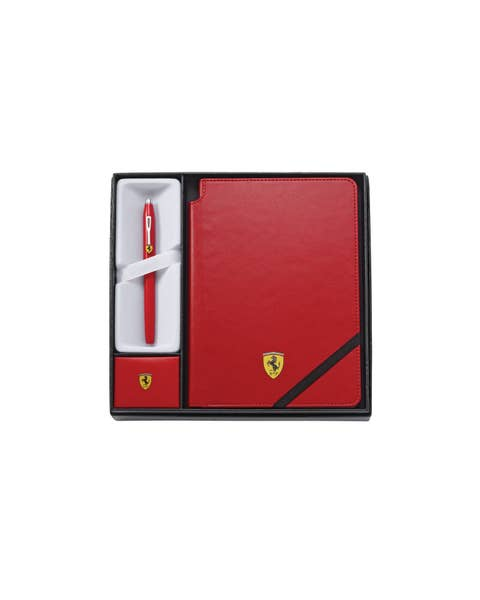 Cross Century II Collection for Scuderia Ferrari Glossy Rossa Corsa Red Lacquer Rollerball Pen and Journal Gift Set