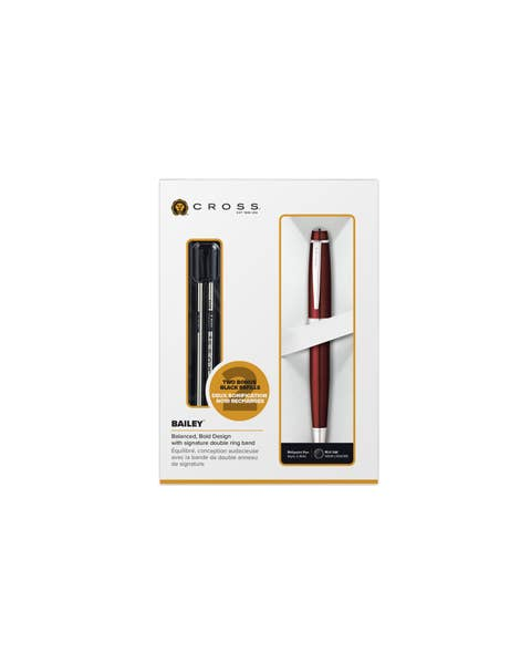Bailey Red Ballpoint with Refills