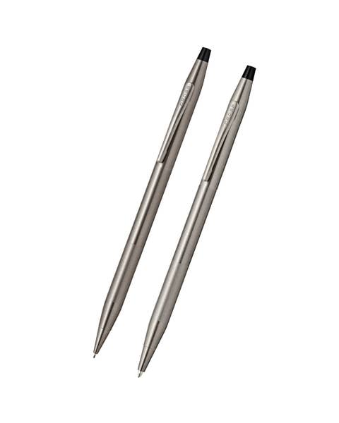 Classic Century Titanium Gray Pen and Pencil Set with Micro-knurl Detail